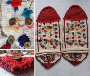 Вълнени чорапи с богата украса