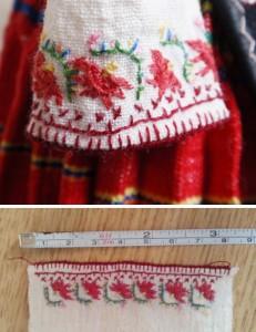 Ръкав на северняшка риза за кукла. Изработка - Бистра Писанчева